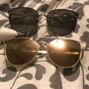 Cat-eye sunglasses bundle